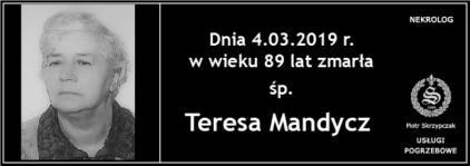 Ś.P. Teresa Mandycz