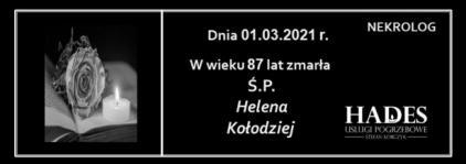 Ś.P. Helena Kołodziej