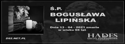 Ś.P. Bogusława  Lipińska