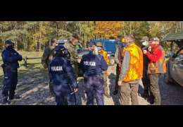 Akcja policji, straży leśnej i straży łowieckiej na Nadleśnictwa Drawsko