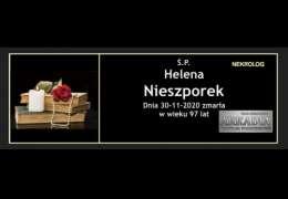 Ś.P. Helena Nieszporek