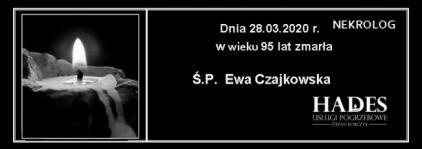 Ś.P. Ewa Czajkowska