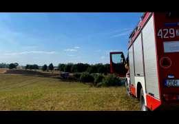 Pożar w Żelisławiu. Z uwagi na silny wiatr wysłano 8 jednostek straży pożarnej