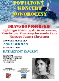 2020-02-23 Koncert piosenek Anny German w Drawsku Pomorskim