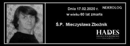 Ś.P. Mieczysława Zbożnik