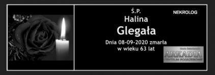 Ś.P. Halina Glegała
