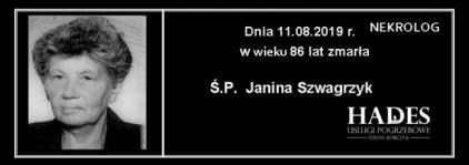 Ś.,P. Janina Szwagrzyk
