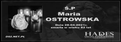 Ś.P. Maria Ostrowska