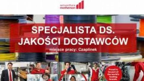 Praca: SPECJALISTA DS. JAKOŚCI DOSTAWCÓW w Kabel-Technik-Polska Spółka z o.o. (Czaplinek)