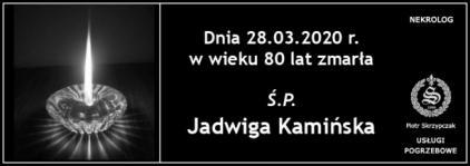 Ś.P. Jadwiga Kamińska