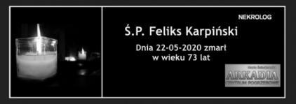 Ś.P. Feliks Karpiński