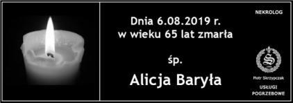 Ś.P. Alicja Baryła