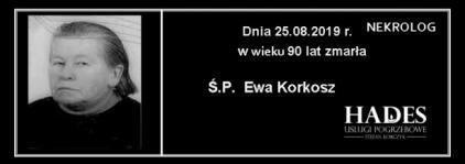 Ś.P. Ewa Korkosz