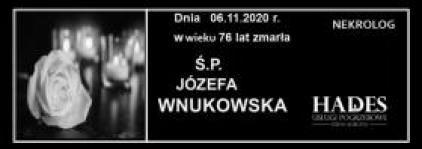 Ś.P. JÓZEFA WNUKOWSKA