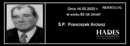 Ś.P. Franciszek Arciusz