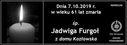 Ś.P. Jadwiga Furgoł z domu Kozłowska
