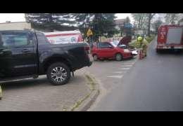 Wypadek w skrzyżowaniu ulic Wałeckiej i Kościuszki w Czaplinku