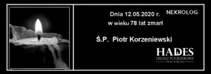 Ś.P. Piotr Korzeniewski