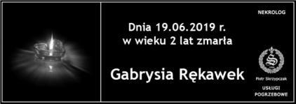 Ś.P. Gabrysia Rękawek