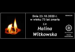 Ś.P. Halina Witkowska