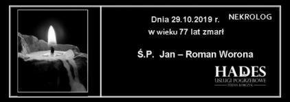 Ś.P. Jan - Roman Worona