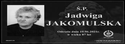 Ś.P. Jadwiga Jakomulska