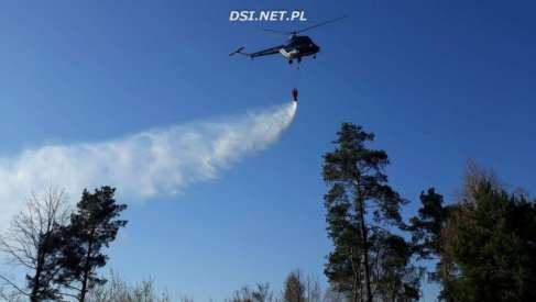 Pożar w Kuszewie – na pomoc wezwano śmigłowce gaśnicze
