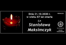 Ś.P. Stanisława Maksimczyk