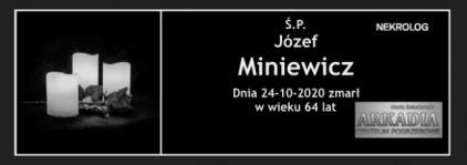 Ś.P. Józef Miniewicz