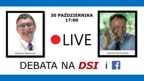 Transmisja debaty wyborczej: Krzysztof Zacharzewski vs Waldemar Włodarczyk. Zapis video i foto