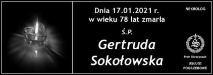 Ś.P. Gertruda Sokołowska