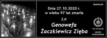 Ś.P. Genowefa Żaczkiewicz Zięba