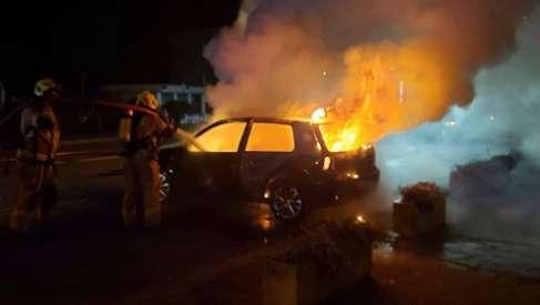 Kolejny pożar samochodu. Tym razem w nocy w Czaplinku