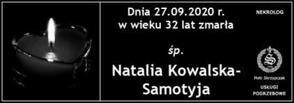 Ś.P. Natalia Kowalska-Samotyja z domu Świerbiołek