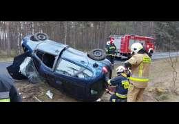 Wypadek na DW 163. Zdjęcia