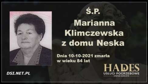 Ś.P. Marianna Klimczewska