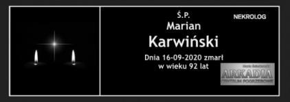Ś.P. Marian Karwiński