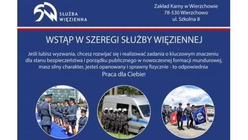 Praca: Strażnik, Wychowawca, Instruktor w Zakład Karny w Wierzchowie