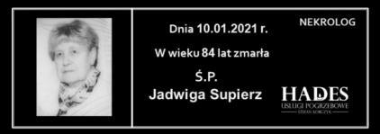 Ś.P. Jadwiga Supierz