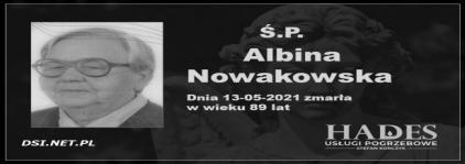 Ś.P. Albina Nowakowska