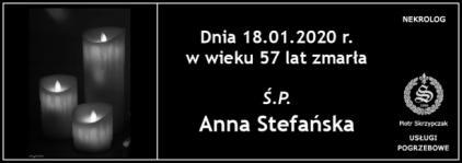 Ś.P. Anna Stefańska