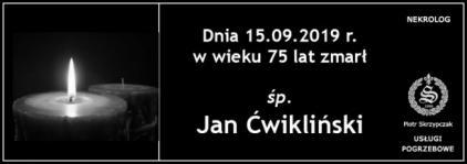 Ś.P. Jan Ćwikliński