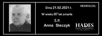 Ś.P. Anna Steczyk