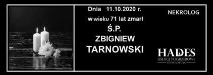 Ś.P. ZBIGNIEW TARNOWSKI