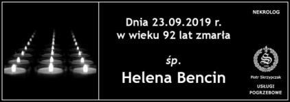 Ś.P. Helena Bencin