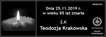 Ś.P. Teodozja Krakowska